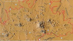Northern Arizona Map by Arizona Geology Sunset Crater San Francisco Volcanic Field