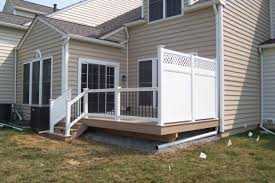 vinyl fence deck privacy deck decks vinyl fence garden