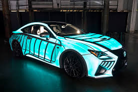 dark green lexus lexus previews rc f with dynamic glow in the dark paint gtspirit