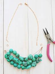 make beads necklace images How to make a simple beaded necklace a beautiful mess
