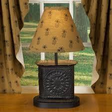 Pineapple Light Fixtures Primitive Gold Pineapple Table Accent Lamp Sturbridge Yankee