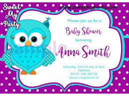 owls baby shower turquoise purple owl baby shower invitation turquoise purple owl
