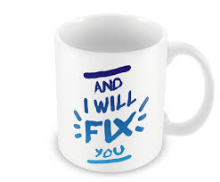 promotional coffee cup fix you coldplay mug u2013 postergully