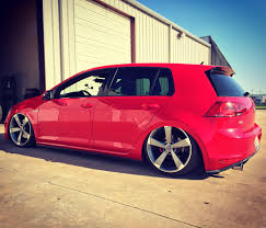 volkswagen gti custom river hood u0027s mk7 gti on air lift performance v2 and custom air