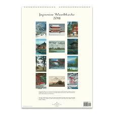 cavallini calendars calendarsdotcom rakuten japanese woodblocks 2018 poster