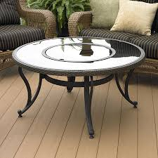 Patio Furniture At Lowes - shop outdoor greatroom company black glass fire pit table at lowes com