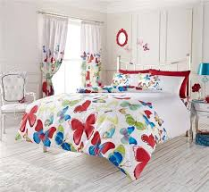 bright butterfly quilt cover bed sets duvet sets with vibrant
