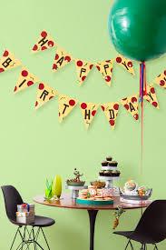 tmnt printable pizza pendant birthday banner nickelodeon parents