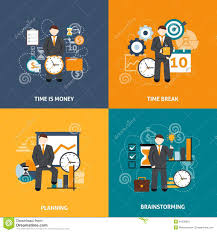 time design planner time management flat stock vector illustration of idea 54339503