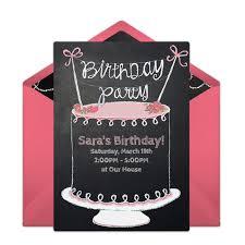 birthday cake online free chalkboard birthday cake online invitation punchbowl
