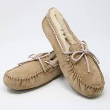 s ugg australia nubuck boots ugg australia beige signature s moccasin slip on slipper