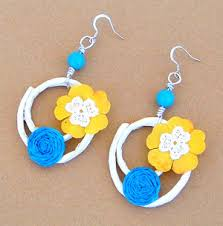 paper ear rings summer paper earrings favecrafts