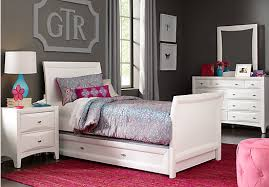 shop for a ivy league white 6 pc twin sleigh bedroom at rooms to