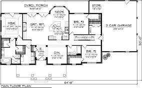 3 bedroom ranch house floor plans house plans ranch house plan 73152 level one plans tablelovers