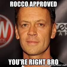 You Re Right Meme - rocco approved you re right bro rocco siffredi meme generator