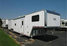 Enclosed Trailer Awning For Sale Toy Hauler Trailers Living Quarter Trailers Custom Toy Haulers