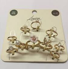 midi ring set lovisa midi rings set 10 pcs women s fashion on carousell