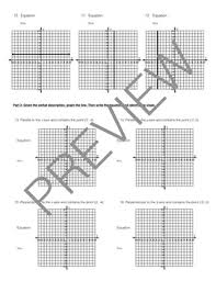 worksheet equations of horizontal and vertical lines inc extension