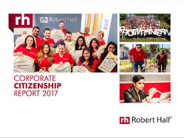 Robert Half Resume Corporate Citizenship At Robert Half