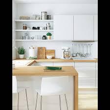 cuisine blanche et bois cuisine blanche plan de travail bois inspirations d co et newsindo co