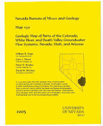 University Of Arizona Map Map Of Parts Of The Colorado White River And Death Valley