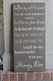 printable lyrics honey bee blake shelton blake shelton honeybee lyric song board by sassymamadecor on etsy