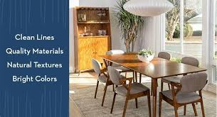 Mid Century Dining Room Furniture Mid Century Modern Furniture Living Spaces