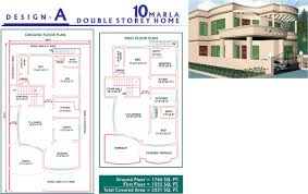 home design plans map home architecture new marla house design civil engineers pk plan