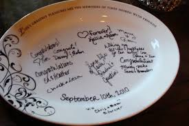 guest book platters signature plates another guest book alternative larry