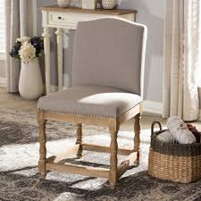 safavieh holloway beige linen dining chair set of 2 fox6228g
