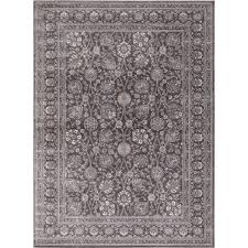 Concord Global Area Rugs Traditional Rug Kashan Kashan Gray Traditional Rug Area Rugs