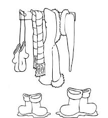 clothes for winter season in winter season coloring page