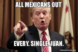 Juan Meme - all mexicans out every single juan donald trump says make a