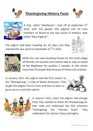 thanksgiving trivia games 4 free esl thanksgiving history worksheets