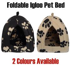 Igloo Dog Houses Pet Dog Cat Igloo Bed Cave House Pyramid Plush Warm Fleece Padding