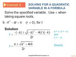 solving quadratic equations by taking square roots worksheet 28
