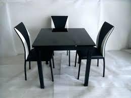 Black Extending Dining Table And Chairs Black Dining Table Kulfoldimunka Club