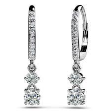 leverback earrings 0 59ct dazzling diamond drop leverback earrings 18k gold
