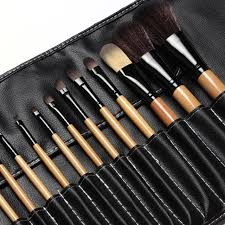 professional makeup artist tools professional makeup brushes set 18pcs brushes in black leather
