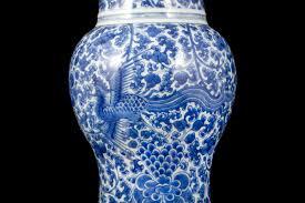 Chinese Blue And White Vase A Blue And White Phoenix Yenyen Vase Kangxi Period China Porcelain