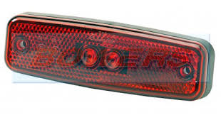 red led marker lights rubbolite m891 red rear led marker light l