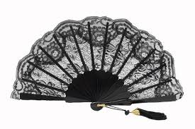 lace fan black lace fan for of honor ref 1954
