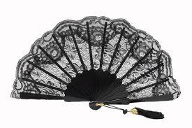 black lace fan black lace fan for of honor ref 1954