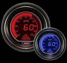 prosport digital red and blue evo series electrical fuel pressure