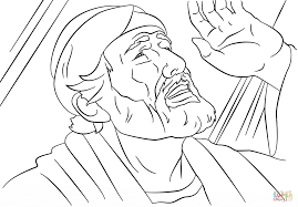 paul on the road to damascus coloring page saul to paul conversion