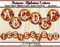 fall letters etsy