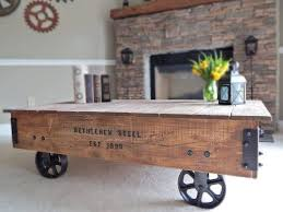 Industrial Cart Coffee Table 65 Best Industrial Cart Table Images On Pinterest Coffee Tables