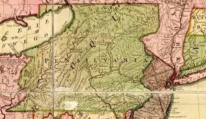 map of pa virginia pennsylvania boundary