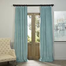 Grey And Blue Curtains Living Room Blackout Drapes With Blue Curtain And Grey Ceramic