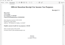 Charitable Contribution Receipt Template Instantly Generate Donation Receipts From Typeform Webmerge